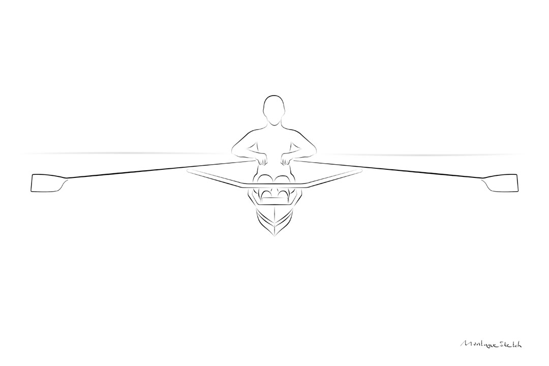 Sculler Front View pos