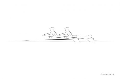 Double Scull 2x Side View pos